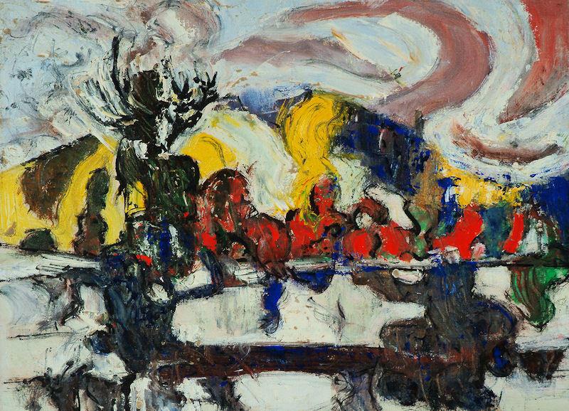 A painting by Arthur Pinajian