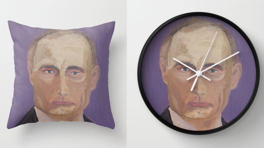 Putin merchandise pulled from sale by Society6 (Society6/Mashable.com/Laura Vito)