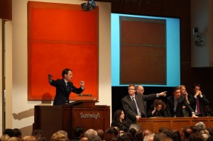 "The ""Red Rothko"" sells at Sotheby's for $31.4 million in 2010/ originally by Xinhua/Zuma Press and  re-printed from Wall Street Journal"