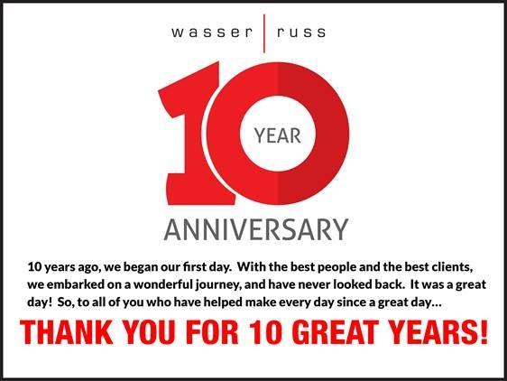 Wasser Russ 10-Year-Anniversary