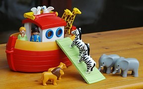 Note: Photo may slightly differ from actual $91 million model of Noah's Ark.