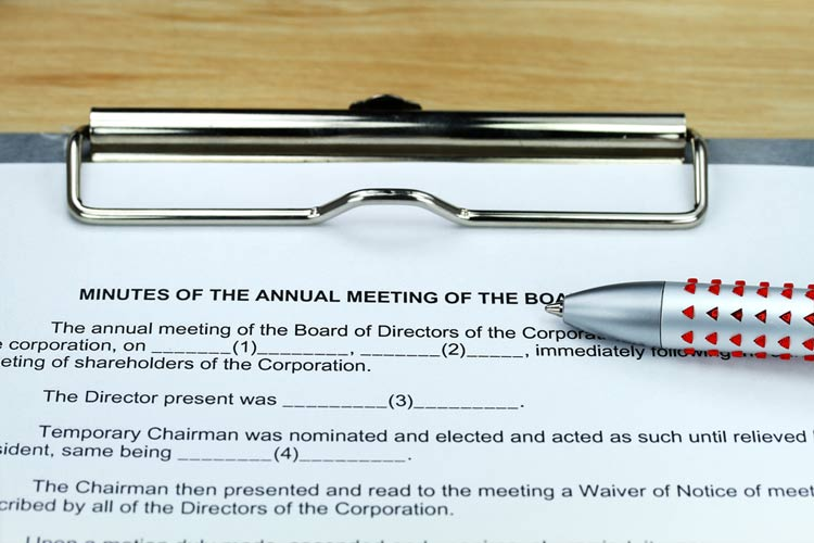 Shareholders Rights to Inspect Board Minutes Annual Meeting Minutes